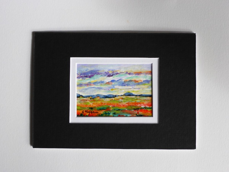 Summer Landscape (ACEO with Mat) - Image 0