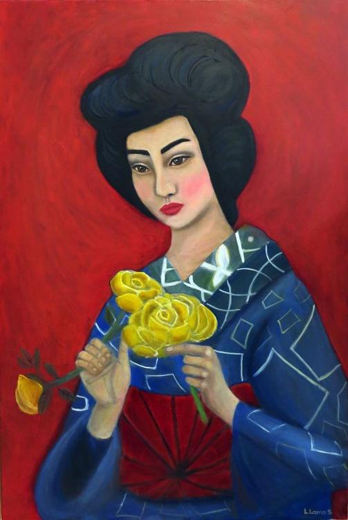 Geisha in Blue - Image 0