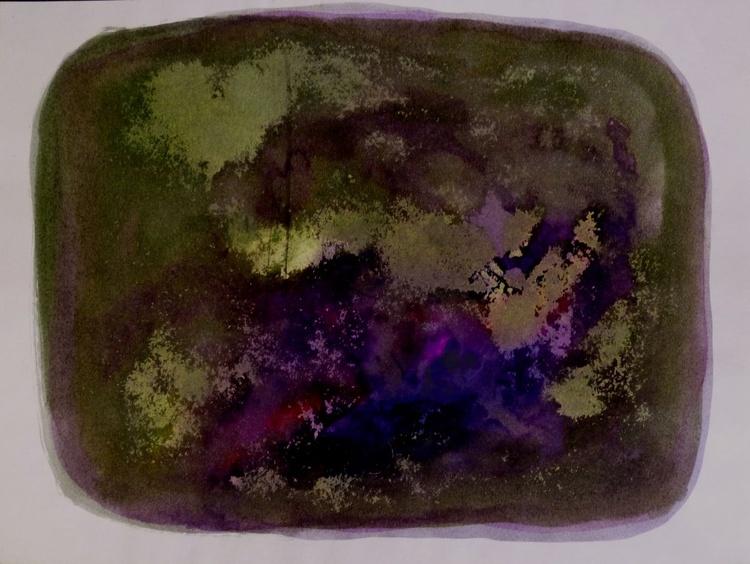 Dark Abstract Drawing, 24x32cm - Image 0