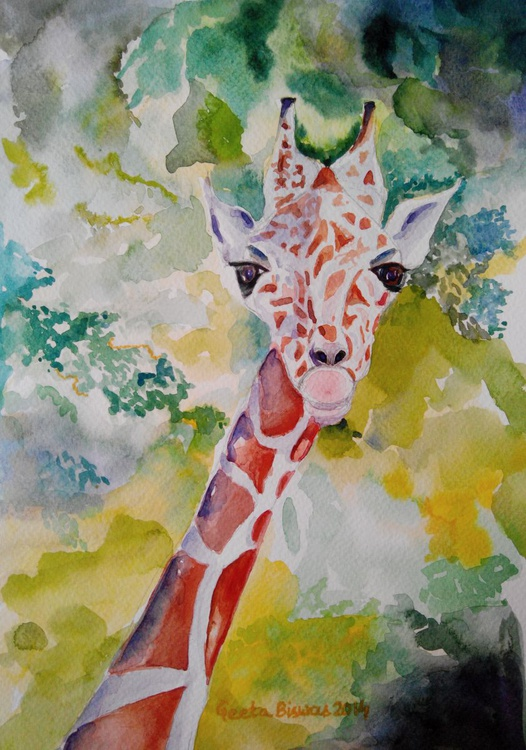 Innocence watercolor painting - Image 0