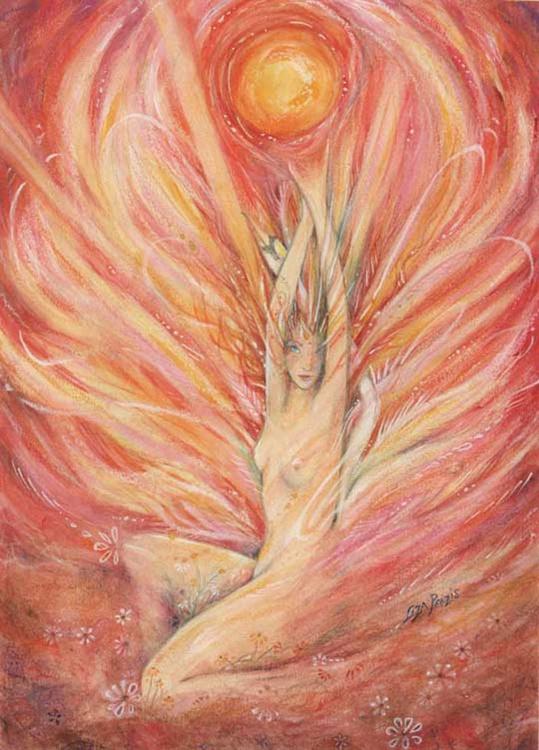 Dawn Goddess - painting of the Spirit of Dawn - Image 0