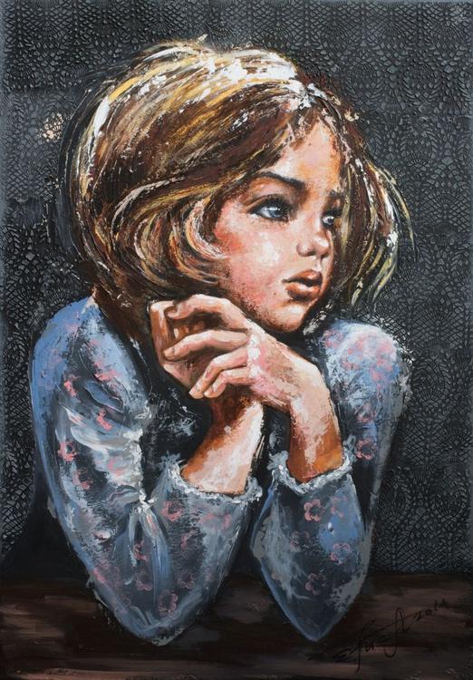 """Dashenka""Original akrylic painting 70x100x2 cm. - Image 0"