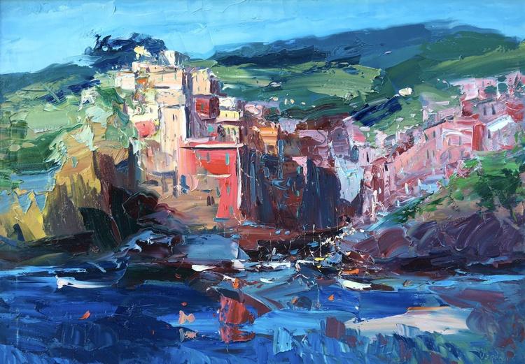 Riomaggiore, Cinque Terre, Seascape, Landscape, Sea, Italy - Image 0