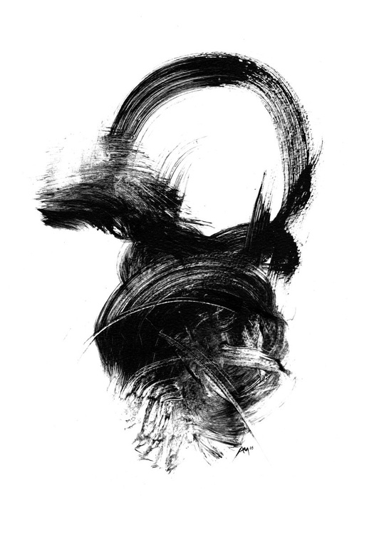Black and White Abstract 160701 - Image 0