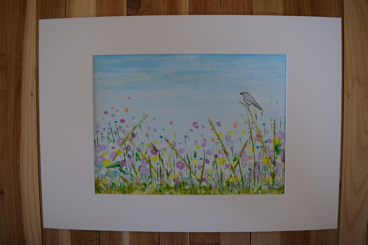 Spring Fields with 1 song bird - Image 0