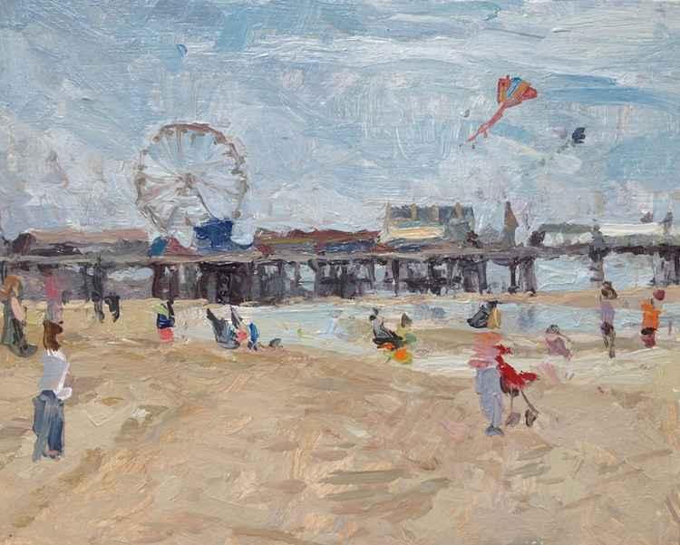 Central beach, Blackpool.