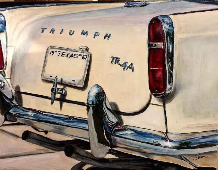 1967 Cream Triumph TR4A -