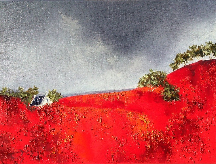 Red poppies on the field - Image 0