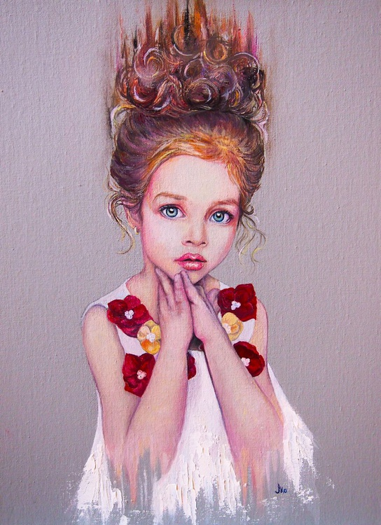 The portrait of a little Russian  model - Image 0