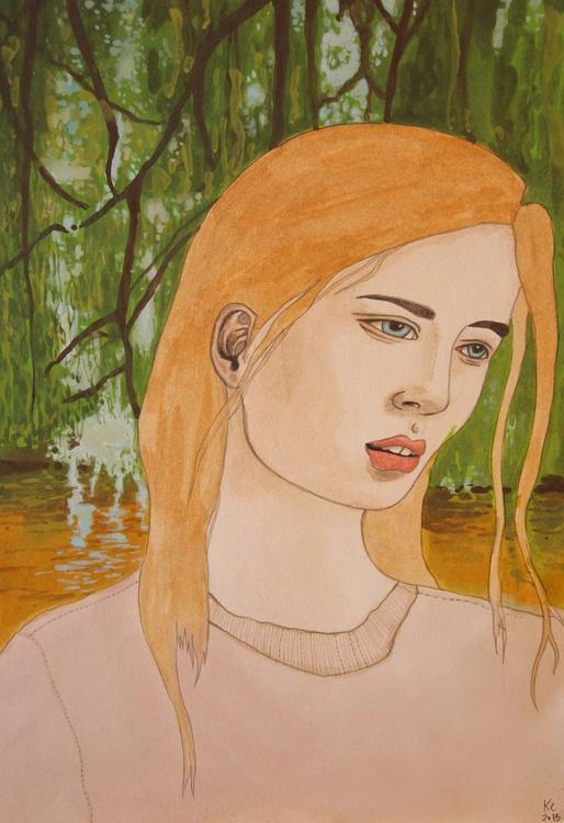 Girl in Lagoon - Image 0