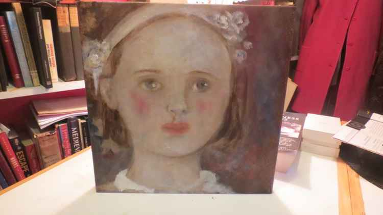 Original art work Oil Painting By Monique BAVAUD Child Portrait Nellie -