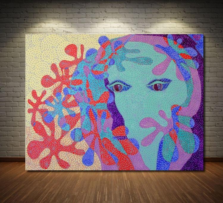 Awakening. Large Abstract Painting. Free Shipping - Image 0