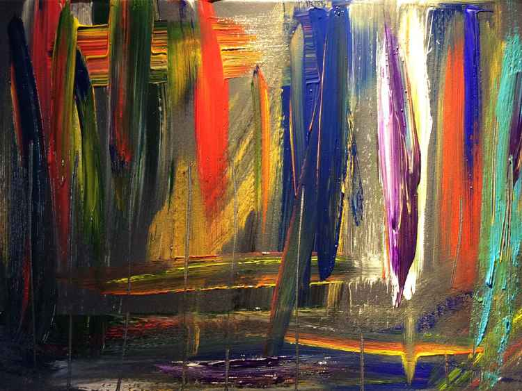 """ angry brush "" Abstract 40 x 30 cm -"
