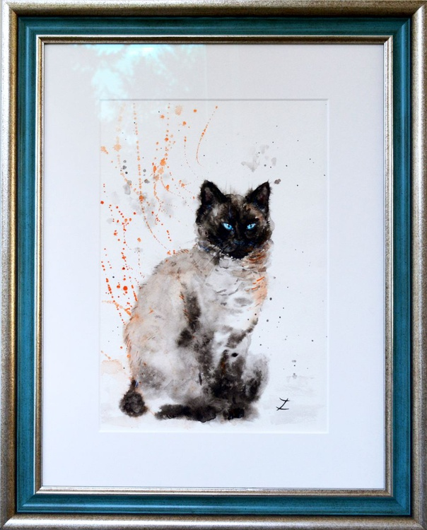 Siamese Beauty. Ready to Hang! - Image 0