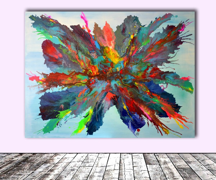 The Birth of Pandora - XXXL Huge Modern Abstract Big Painting, FREE SHIPPING - Large Painting - Ready to Hang, Hotel and Restaurant Wall Decoration - Image 0