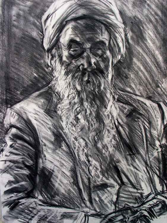 The Wise Sikh In Wild Black and White -