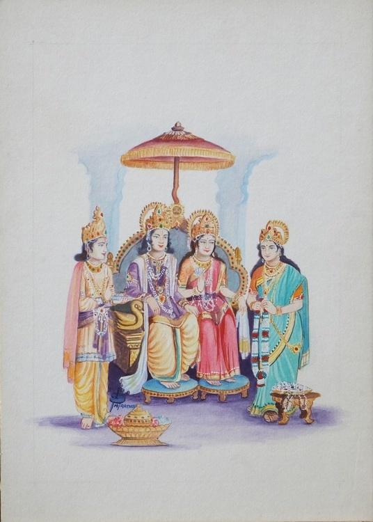SHRIRAMSABHA ~ ( Shri Ram & Sita ~ shri Laxman & Urmila ) - Image 0