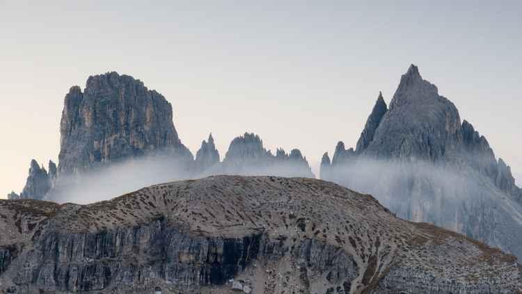 Dolomites at dawn -