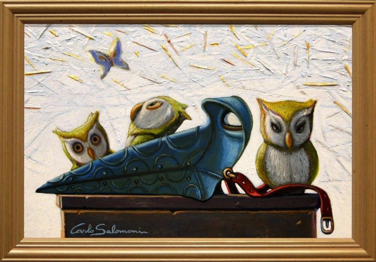 PLAGUE DOCTOR OWLS- (framed) - Image 0
