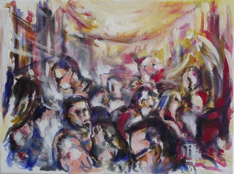 Life scene - CROWD IN TOWN - (Extracted form and shapes from Lebanese nature) - Image 0