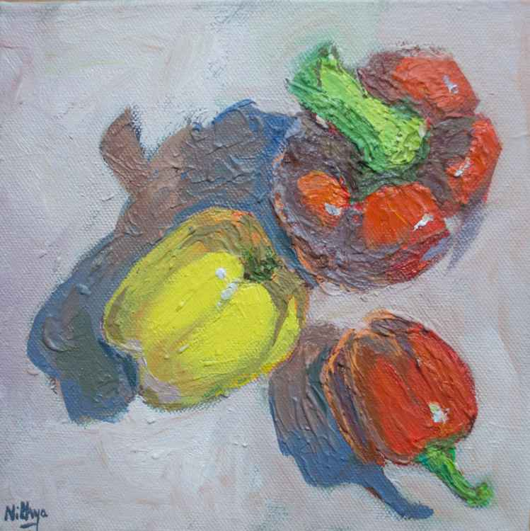 Pepper Trio - Original Still Life in Oils -