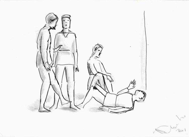 Line drawing, study #7 21x29 cm - Image 0