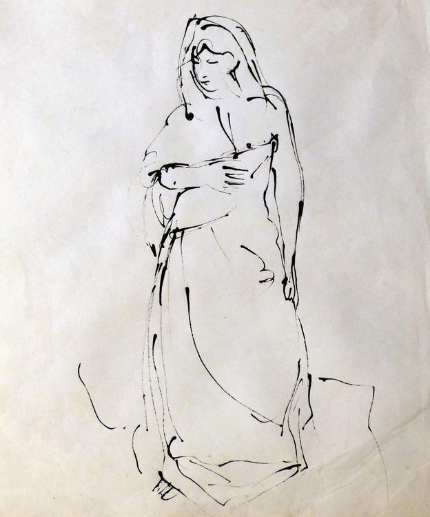 Claire 2, 38x45 cm - Image 0