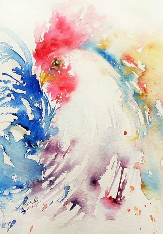 White rooster I - Image 0
