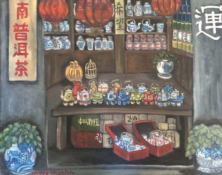 China Steet Scene ; Tea Shop - Image 0