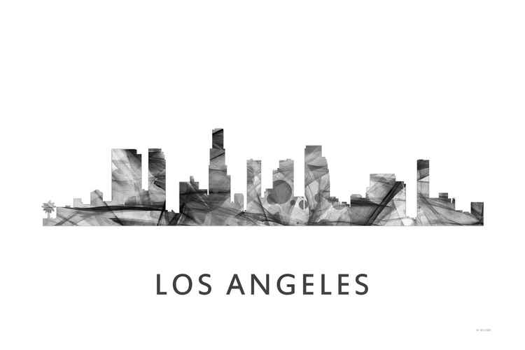 Los Angeles California Skyline WB BW