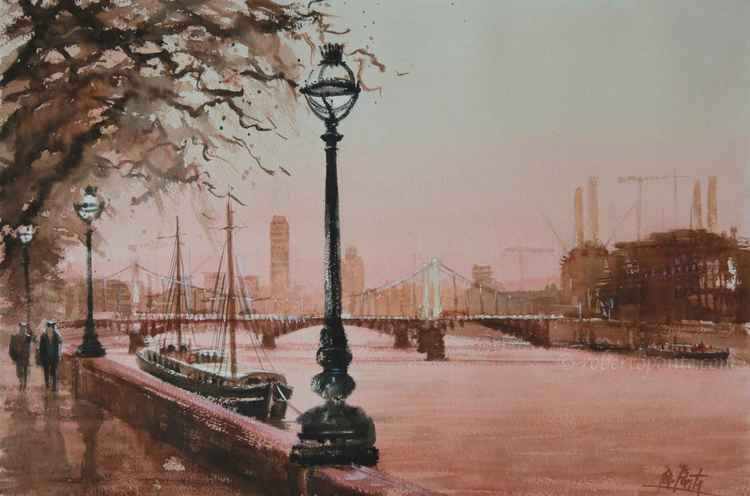 """Chelsea Embankment - Chelsea bridge"""