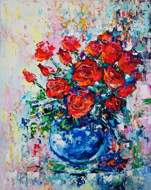 Red roses - Image 0