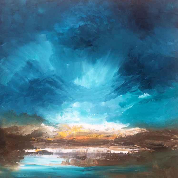 """""""Blue Sky"""" / Acrylic Painting 32x32x1.6"""""""