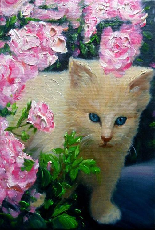 Kitten, oil painting 20x30 cm - Image 0