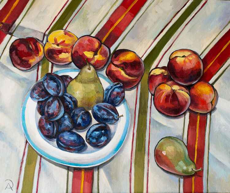 August. Fruits and stripes.