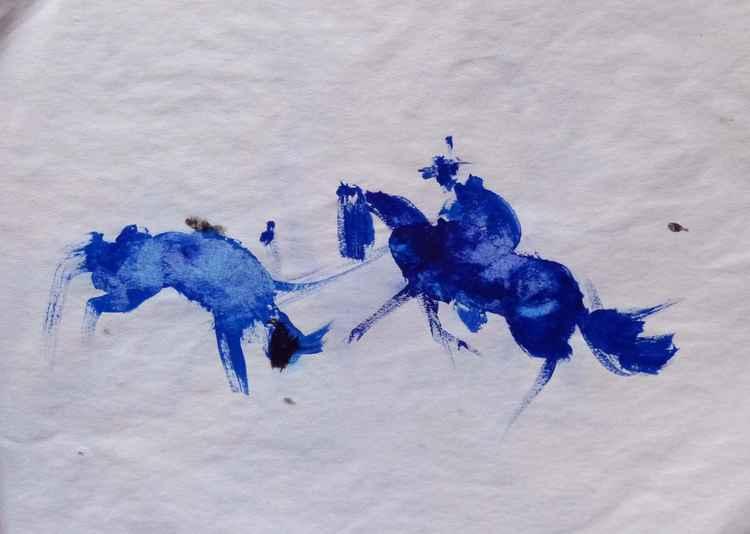 Western 18, wallpaper study 24x16 cm