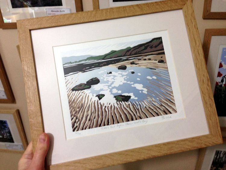 Tide's Out Again (Robin Hood's Bay), framed - Image 0