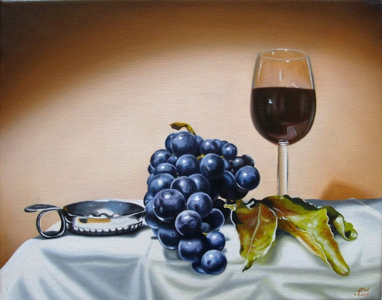 Grapes and wine glass / FREE Shipping - Image 0