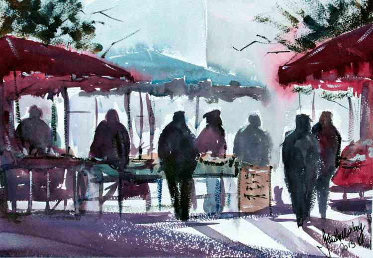 Morning at the market -