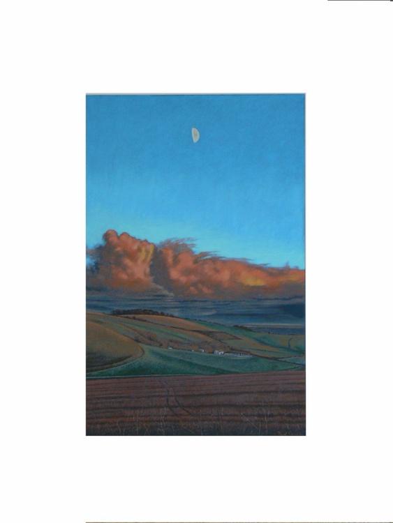 Evening Sunlight Over Marlborough Downs - Image 0