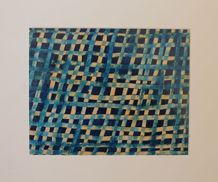 Weave (blue and gold) - Image 0