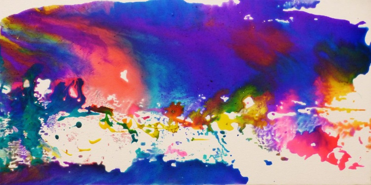 Landscape. Sea, waves and clouds. 30x60cm - Image 0