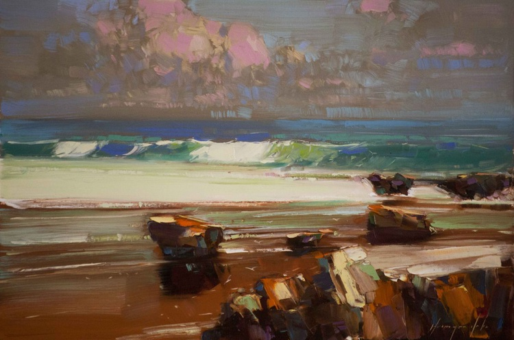 Pacific Coast Original oil Painting One of a kind - Image 0