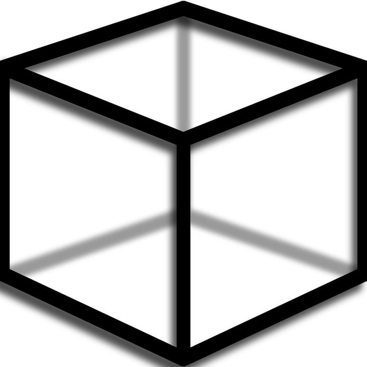 Black Cube On White - Image 0