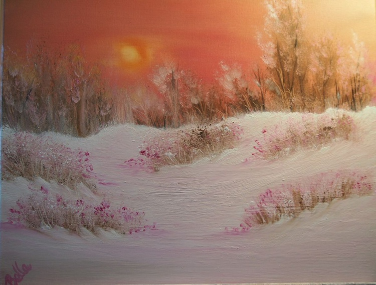 Pink snow valley - Image 0
