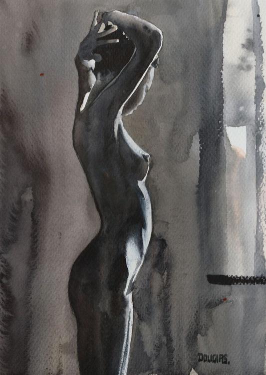 'Nude Tying Hair' - Image 0