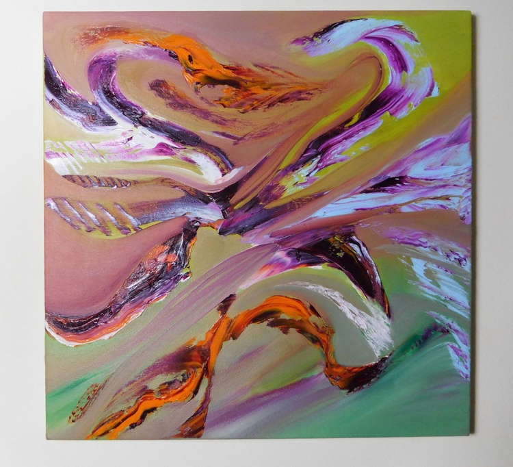 Continuum I - 40x40 cm,  Original abstract painting, oil on canvas - Image 0