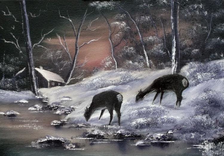 Deer at Feeding Time. - Image 0