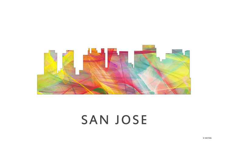 San Jose California Skyline WB1 -