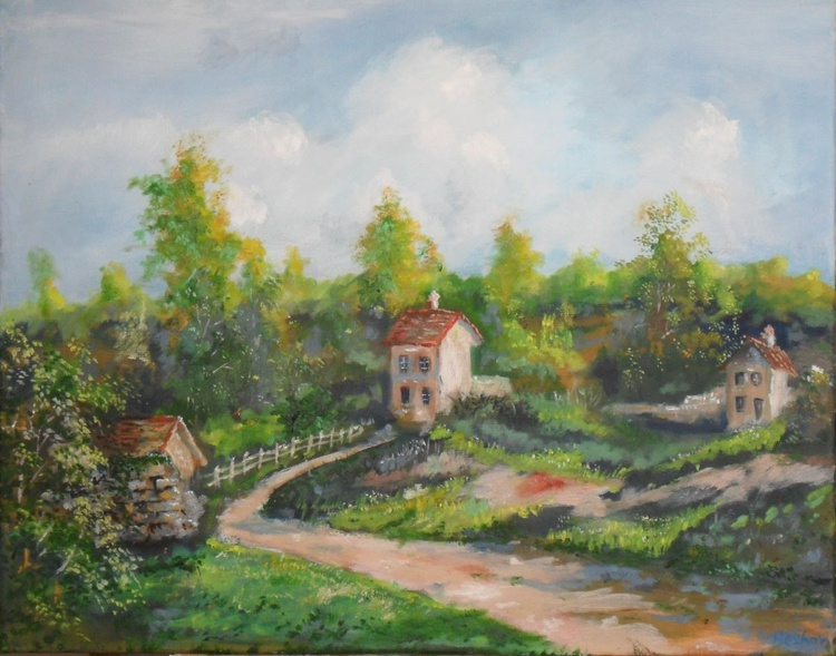 Village in the Summer - Image 0